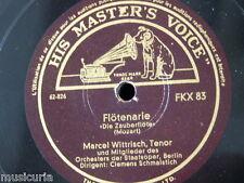 """78rpm 12"""" MARCEL WITTRISCH - BERLIN STAATSOPER flotenarie / dies bildnis ist"""