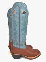 New $254.00 Twisted X Men's Leather Buckaroo Boot Brown/Gray Blue Sz 7.5 D