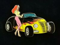 Disney JESSICA Rabbit HOT ROD Car Series Custom Flames Convertible LE100 Pin