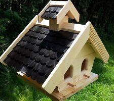 Vogelhaus Putzklappe Vogelfutterhaus Vogelhäuser massives Holz Vogelhäuschen KPS