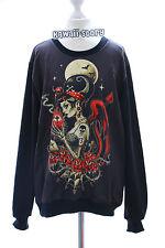 TY-G035 Devil Teufel Vampir black schwarz Gothic Punk Retro Sweatshirt Pullover