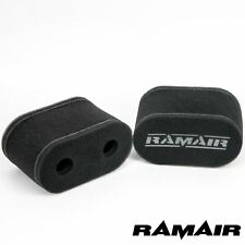 2 x RAMAIR Foam Carb Sock Air Filters Toyota 4AG 1.6 Weber 45 DCOE