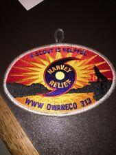 Owaneco Lodge 313 Hurriance Harvey Fundraiser Patch - 125 Made