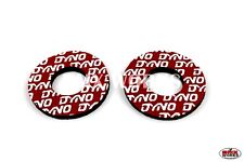 ProBMX Flite Style Old School Dyno BMX Grip Donuts - Pairs - Red & White