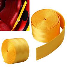 3.6M Seat Belt Webbing Polyester Seat Lap Retractable Nylon Safety Strap Yellow