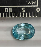 1.74 Carat 8x6mm Natural BLUE ZIRCON Birthstone For December Gemstone (#L6259)
