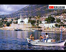 KALKAN / ANTALIA (TURQUIE) BARQUE de PECHE animée aux VILLAS / PORT LIMAN en1988