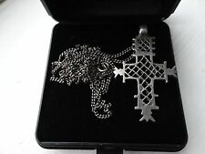 Egyptian silver Cross Coptic Christian pendent and chain. handmade.