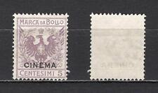 #290 - Regno - 5 cent marca da bollo Cinema, 1914 - Senza gomma