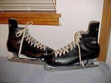 New Men's Vintage Ccm Sr. Senior A, leather Ice Hockey Skates, Size 10 1/2, 10.5