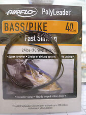 AIRFLO Polyleader BASS / PIKE 4ft /1,20 Mtr. FAST SINKING