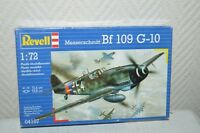 MAQUETTE AVION MESSERSCHMIDT BF 109/G-10 REVELL PLANE/PLANO NEUF 1/72 MODEL KIT