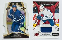 ILYA MIKHEYEV GAME USED JERSEY CARD TRILOGY ROOKIE ALLURE WHITE RAINBOW LOT OF 2