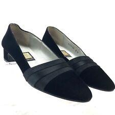 "Nina Womens Classic Black Velvet Pump Size 6M 1.25"" Heels"