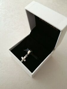 Genuine Pandora Cross Dangle Charm with Pandora Box