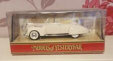 Matchbox Models Of Yesteryear Y64 1938 Lincoln Zephyr In Original Box