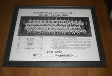 1936 PITT PANTHERS ROSE BOWL FRAMED FOOTBALL TEAM