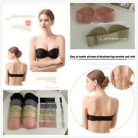 Lady Strapless Bra Push Up Breathable Bra Backless Invisible Multi-way Lingeries
