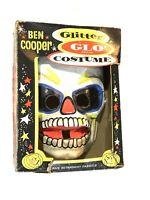 Vtg Ben Cooper Halloween Costume Box Plastic Mask Rare Skeleton Skull Zombie 60s