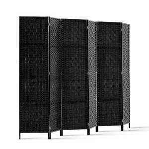 Artiss  3/4/6/8 Panel Room Divider Privacy Screen Rattan Woven Wood Stand