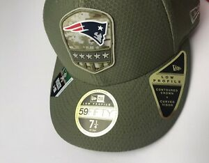New England Patriots NFL New Era Salute To Service 59Fifty Fitted Cap Hat 7 1/4