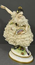Antique German Dresden Volkstedt Lace Porcelain Figurine