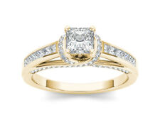14k Yellow Gold 1ct Princess-cut Solitaire Diamond Engagement Ring