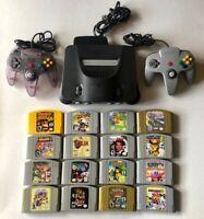 Nintendo 64 Console + Controller +Mario 64, Kart, Smash, Zelda, Donkey, 007 N64