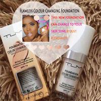 TLM Color Changing Foundation Makeup Base Face Liquid Cover Concealer 30ml DE