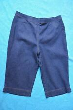 Rockmans COMFORT Waistband Stretch INDIGO Denim Capri PANTS Size 18 NEW