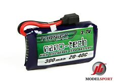 Nanotech 300mAh 1S 1 Cell 3.7V 20~40C Lipo Battery Pack Losi Mini Compatible