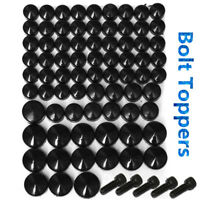 Black Bolt Toppers Cover Caps Kit For Harley Davidson Dyna Softail Twin Cam 75pc