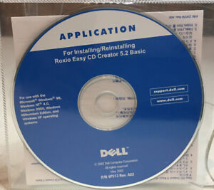 Application Installing/Reinstalling Roxio Easy CD Creator 5.2 Basic (PC CD-ROM)