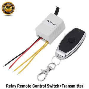 DC4V~12V Funk Wireless Relais Fernbedienung Schalter Empfänger & Sender