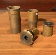 """Freeman telescope refractor eyepiece 1.25"""" brass oculars and extender 1920s USA"""