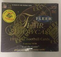 1999 Fleer Flair Showcase Football Factory Sealed Hobby Box