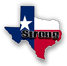 Texas Houston Strong Car Truck Bumper Custom Print Sticker Vinyl Decal Graphic