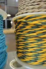 GREEN & GOLD - Cloth Covered Electrical Wire 25 ft - Braided wire - Fabric