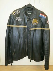No Fear, Vintage Black Leather Jacket, Racing Style, Size L, Model 603, used