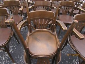 Thonet Style Bentwood Seat Parlor Bistro Cafe Chair DREVOUNIA lot of 16 (ST)