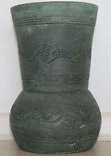 Raro Antiguo Arte Cerámica de cerámica española Gerunda en Verde Harbour. 20 Cm De Alto