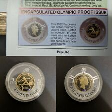 RARE Very Short Lived 1992 Barcelona Olympic $1 Coin Encapsulated Proof Issue