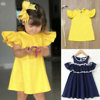 Children Infant Kids Baby Girl Party Sleeveless Party Princess Dress Set Clothes