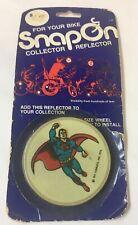 1976 SUPERMAN Bicycle SnapOn Collector Reflector