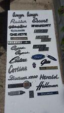 More details for job lot of 27 vintage car badges. model/make.  pre owned lot 1 of 2