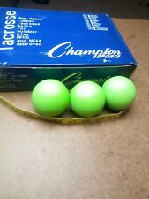 Three Lacrosse Balls Champion Sports Green Meets Ncaa Specs