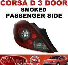 VAUXHALL CORSA D 3 DOOR SMOKED TINTED REAR LIGHT PASSENGER NEAR SIDE SXI VXR SRI