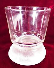 Antique Frosted Lion Spooner Gillinder & Sons Early American Pressed Glass Clear