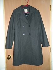 WOMEN'S OLD NAVY 34 LENGTH WOOL BLEND PEACOAT SIZE LARGE RARE WORN 1X MINT
