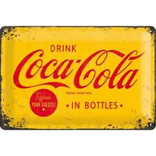 DRINK COCA COLA * BAR KNEIPE CAFE * WERBE BLECHSCHILD * NOSTALGIE * 20X30 * NEU!